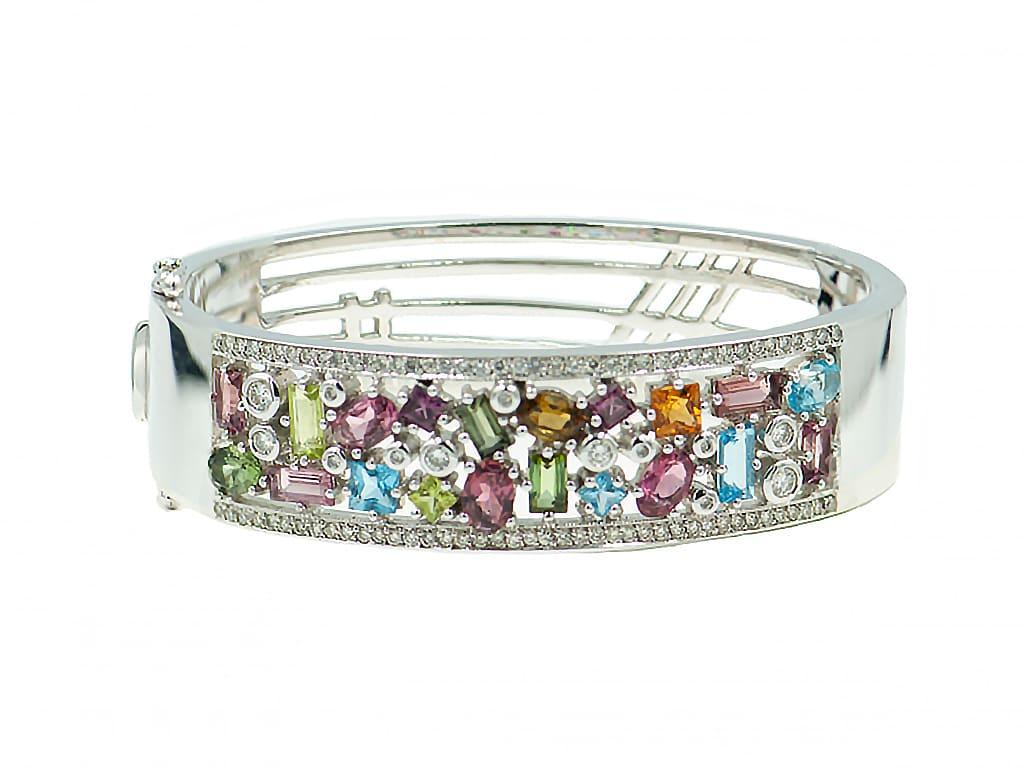 Pulsera piedras preciosas-brazalete- joyeria carlos guinot000020140-