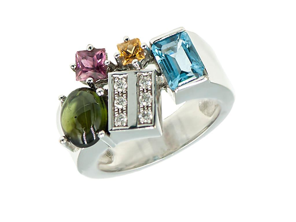 Anillo piedras preciosas-esmeralda-zafiro-diamante-joyeria-carlos-guinot