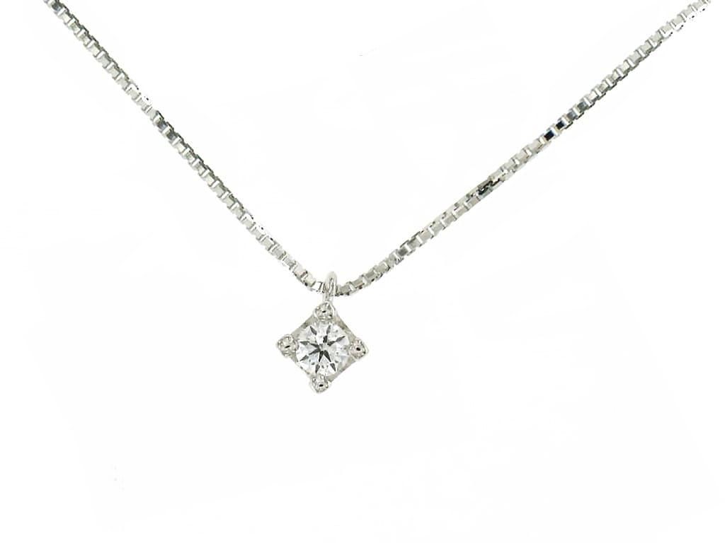 Colgante de oro blanco con diamante Guinot A01880053-